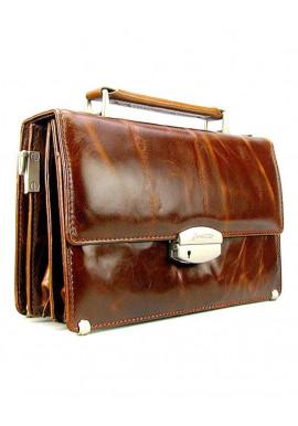 Фото Коричневая кожаная барсетка для мужчины Desisan 1081-1