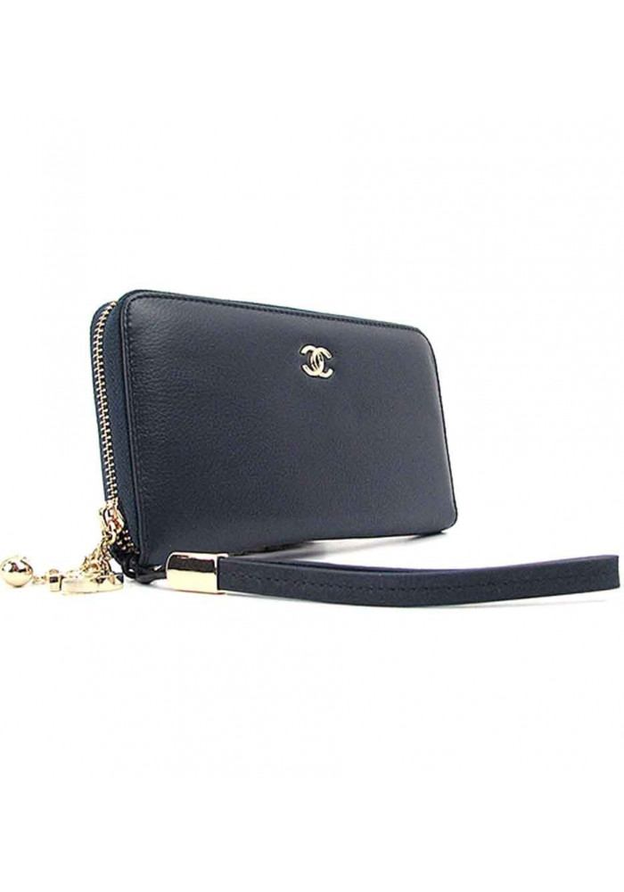 Синий кошелек из кожи для девушки CH 6020