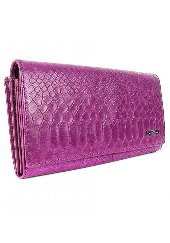Фиолетовый женский кошелек из кожи Mario Veronni 96
