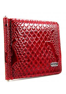 Зажим для купюр кожаный Desisan 208 красный