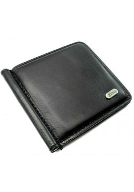 Фото Черный зажим для денег кожаный Desisan 208-1