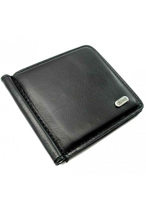 Черный зажим для денег кожаный Desisan 208-1