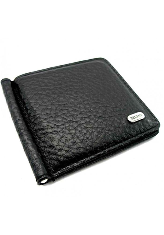 Зажим для денег черный текстурный Desisan 208-011