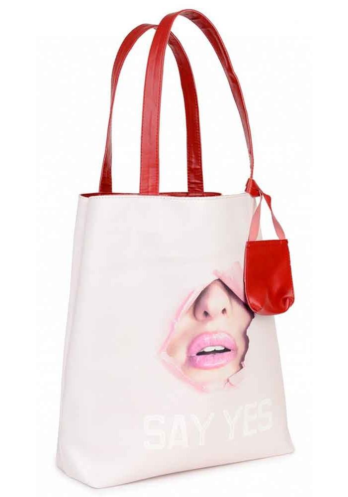 Нежно-розовая летняя женская сумка BBAG SUMMER LIPS