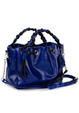 Фото Стильная женская кожаная сумка BBAG ROBERTA ROYAL BLUE