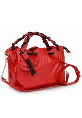 Фото Маленькая кожаная женская сумка BBAG ROBERTA ROYAL RED