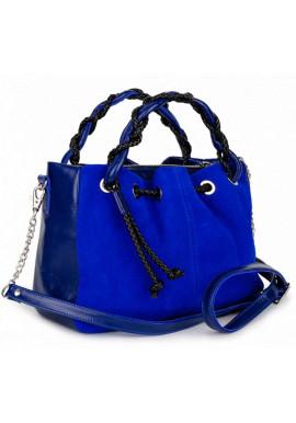 Фото Кожаная женская сумка BBAG ROBERTA ROYAL COBALT