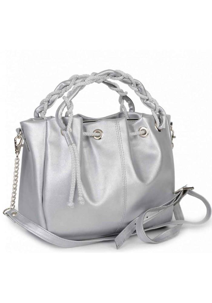 Серебряная женская сумка BBAG ROBERTA SILVER