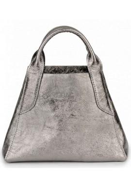 Фото Кожаная никельная женская сумочка BBAG LAURA MINI KRISTALL
