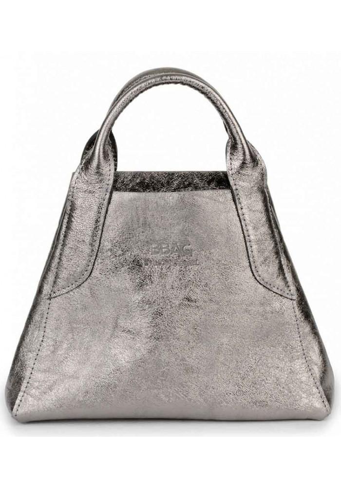 Кожаная никельная женская сумочка BBAG LAURA MINI KRISTALL