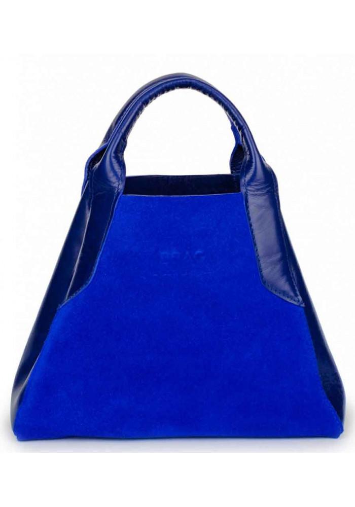 Женская сумка из итальянской кожи BBAG LAURA MINI ROYAL COBALT