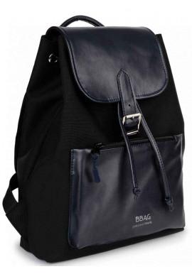 Фото Комбинированный женский рюкзак BBAG REBEL BLACKNAVY
