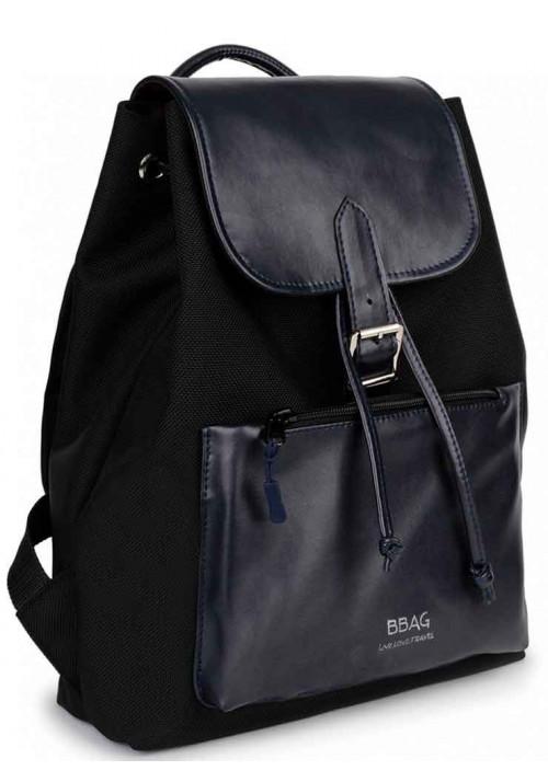 Комбинированный женский рюкзак BBAG REBEL BLACKNAVY