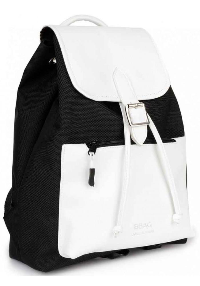 Черно-белый женский рюкзачок BBAG REBEL BLACKWHITE