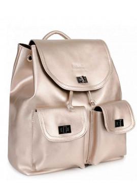 Фото Золотой женский рюкзак с розовым оттенком BBAG IRIS ROSE GOLD