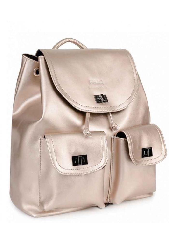 Золотой женский рюкзак с розовым оттенком BBAG IRIS ROSE GOLD