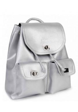 Фото Серебряный женский рюкзак BBAG IRIS SILVER