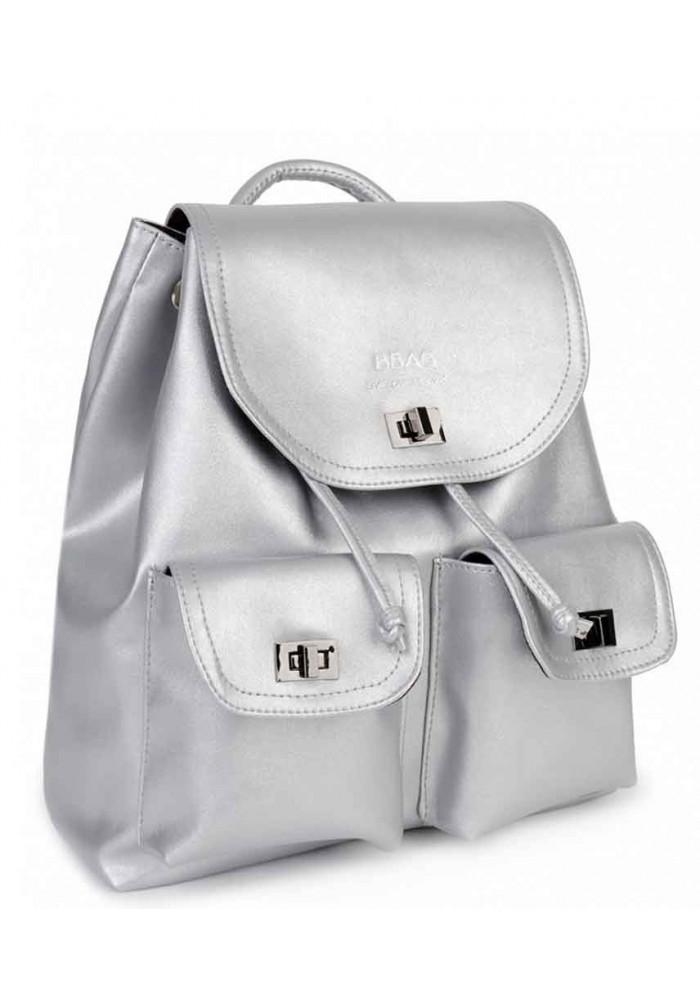 Серебряный женский рюкзак BBAG IRIS SILVER