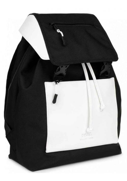 Черно-белый женский рюкзак BBAG CROSSTOWN BLACKWHITE