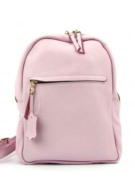 Фото Летний розовый кожаный женский рюкзак Viladi 060