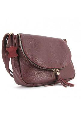 Фото Кожаная сумка на плечо для девушки Viladi 049