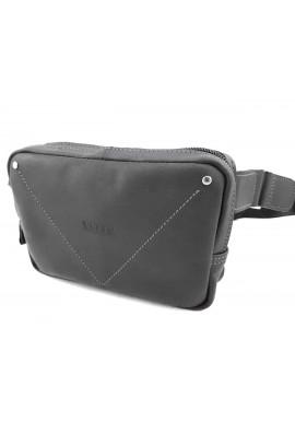 Фото Черная винтажная мужская сумка на пояс VATTO