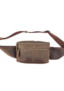 Фото Мужская поясная сумка из гладкой кожи VATTO