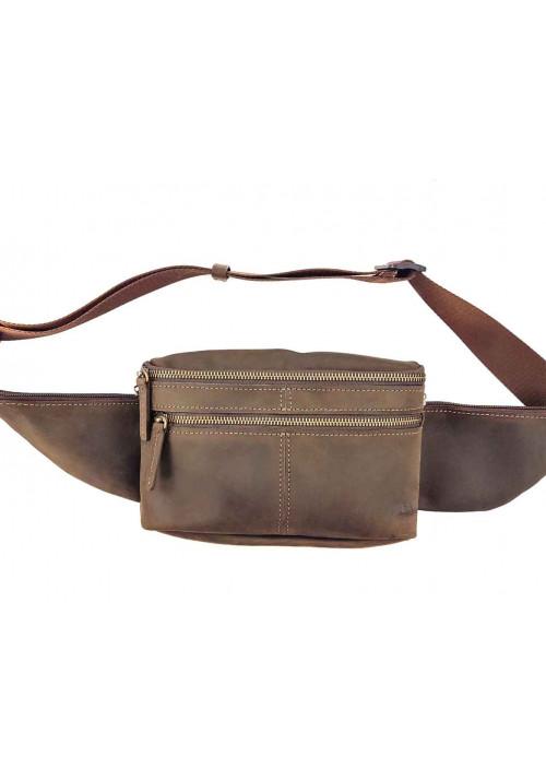 Мужская поясная сумка из гладкой кожи VATTO