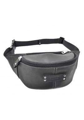 Фото Черная мужская сумка на пояс ВАТТО