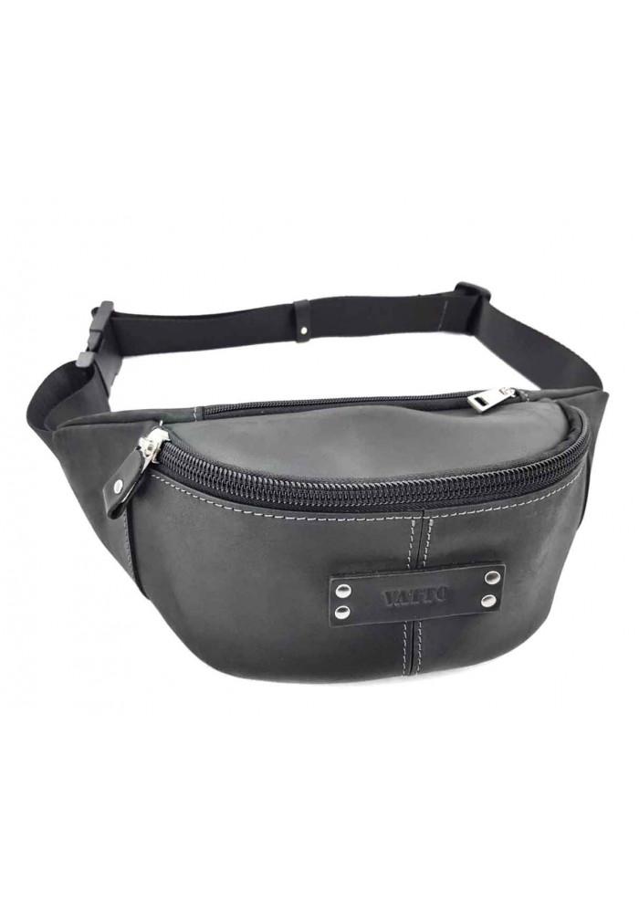 Черная мужская сумка на пояс ВАТТО