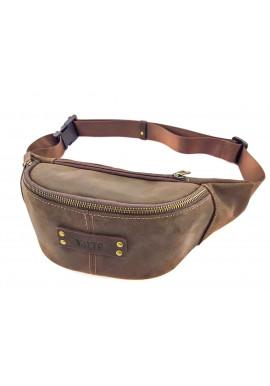 Фото Коричневая мужская сумка на пояс ВАТТО