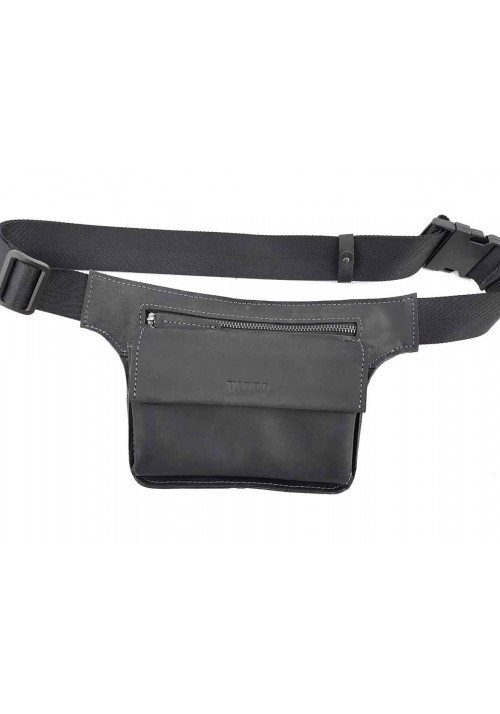 Компактная кожаная мужская поясная сумка VATTO