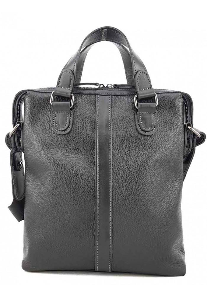 Мужская сумка из кожи черного цвета VATTO