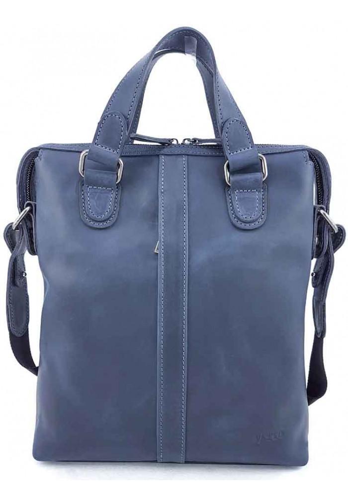 Мужская вертикальная сумка из винтажной кожи VATTO