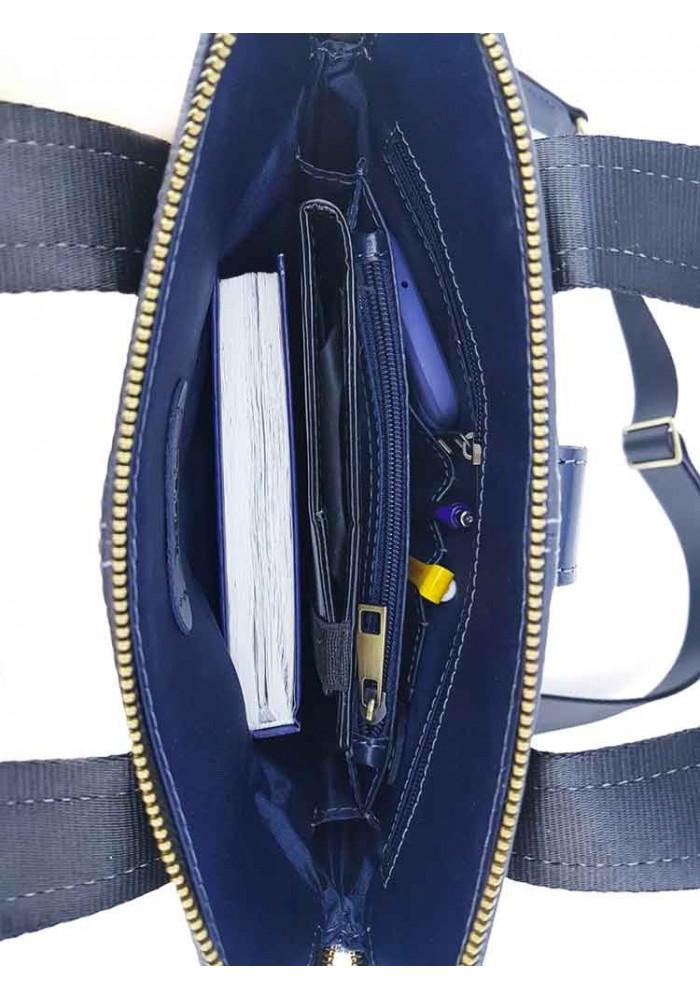 5252146d51a8 ... Стильная кожаная сумка для мужчины из синей кожи VATTO, фото №10 -  интернет магазин ...