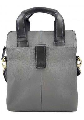 Фото Серая сумка для мужчины из кожи VATTO