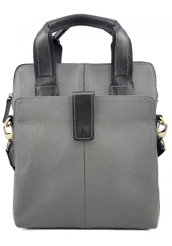 Серая сумка для мужчины из кожи VATTO