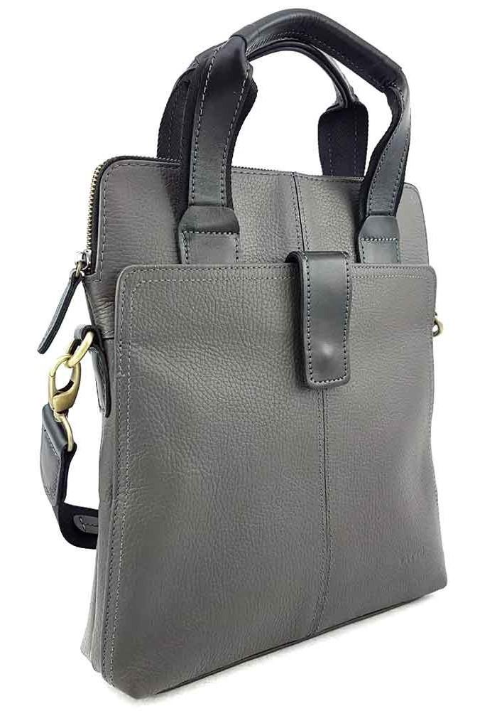 ff0402f8dcd7 Серая сумка для мужчины из кожи VATTO, фото №3 - интернет магазин stunner.