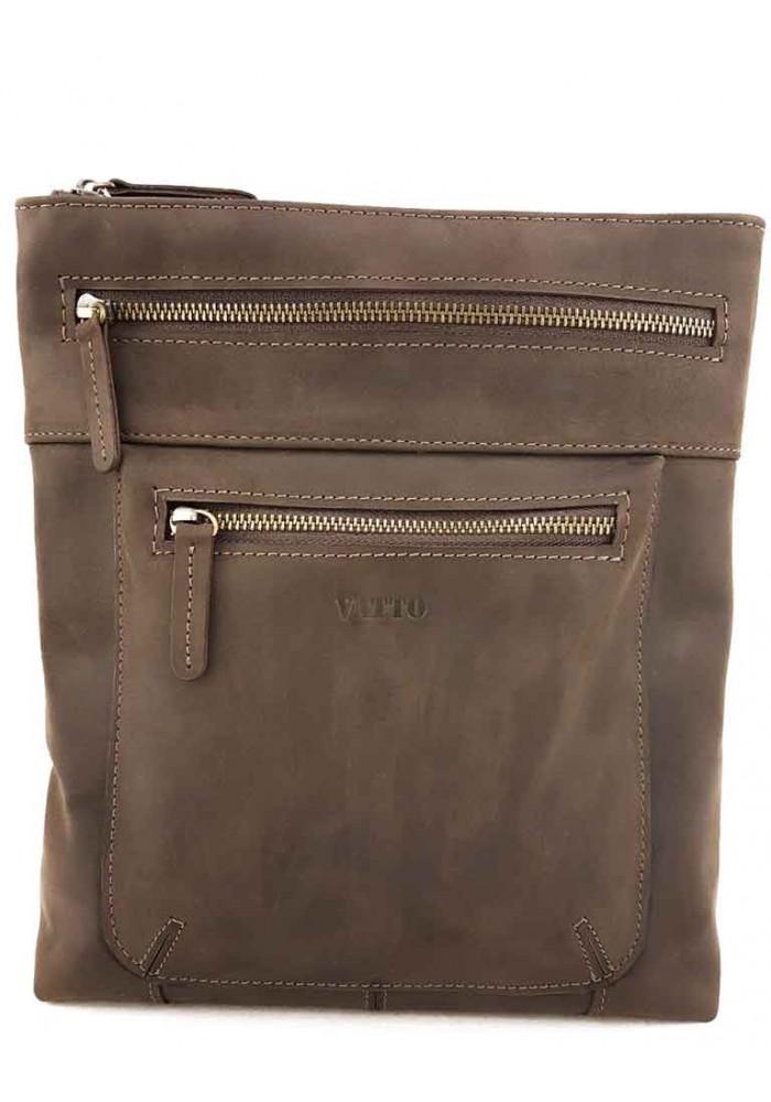 Коричневая сумка-планшет для мужчины VATTO
