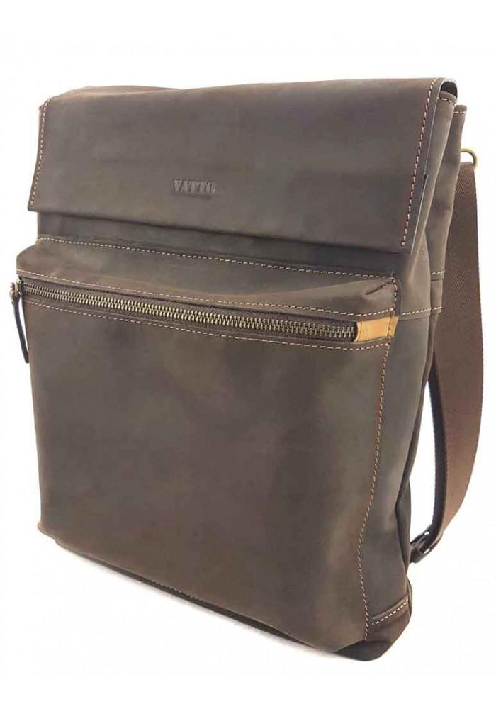 Кожаная мужская сумка через плечо формата А4 VATTO