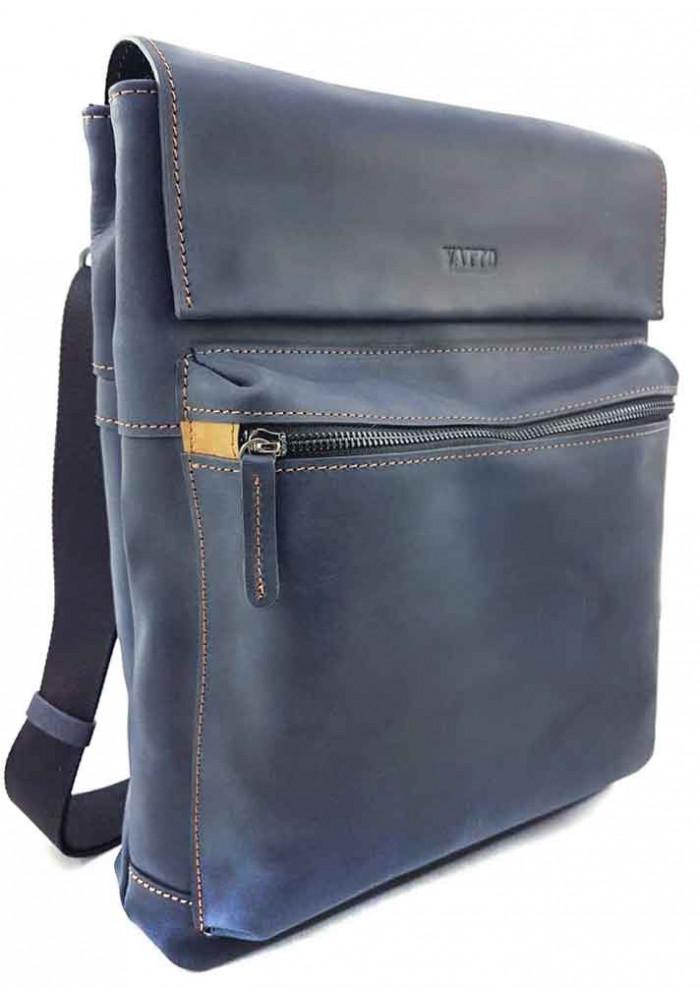 Кожаная мужская сумка формата А4 VATTO синяя
