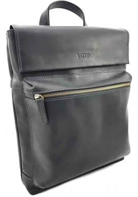 Фото Кожаная мужская сумка формата А4 VATTO черная