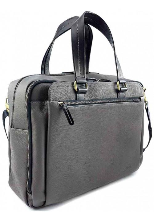 Серая кожаная мужская сумка для багажа VATTO