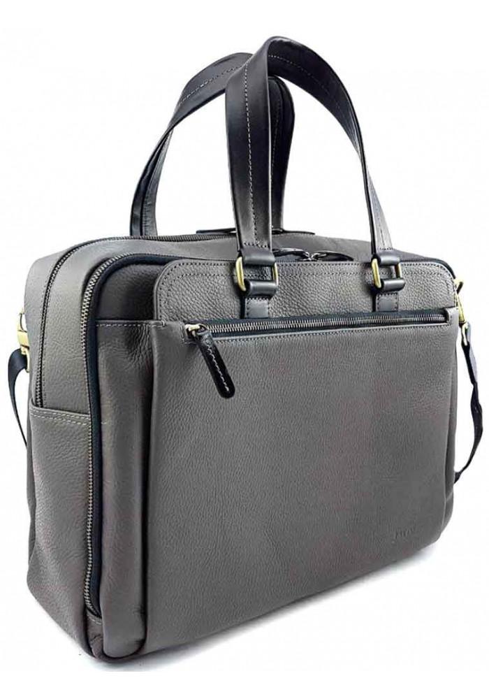 Фото Серая кожаная мужская сумка для багажа VATTO