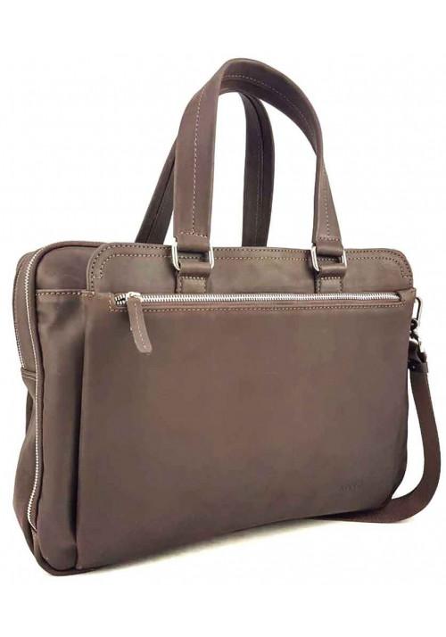Коричневая кожаная мужская сумка для багажа VATTO