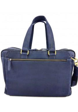 Фото Синяя кожаная мужская сумка для багажа VATTO