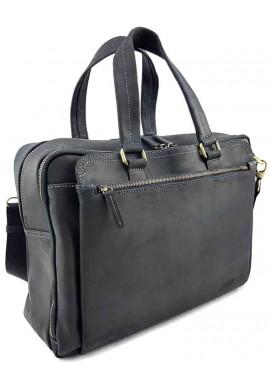 Фото Черная кожаная мужская сумка для багажа VATTO