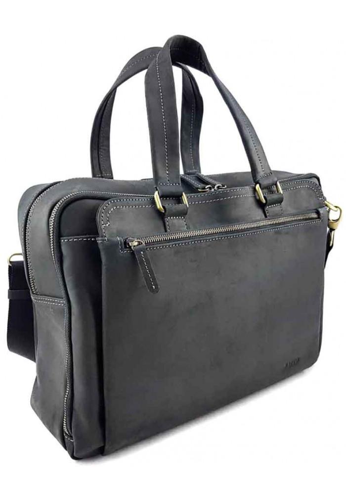 Черная кожаная мужская сумка для багажа VATTO