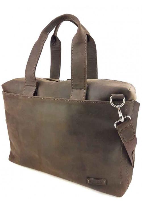 Фирменная мужская сумка Vatto коричневая матовая