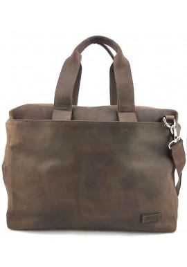 Фото Фирменная мужская сумка Vatto коричневая матовая